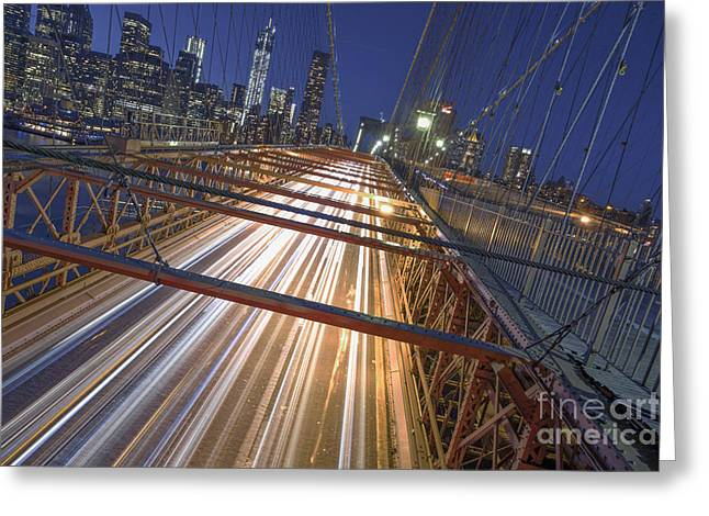 Nyc Power Surge Greeting Card by Marco Crupi