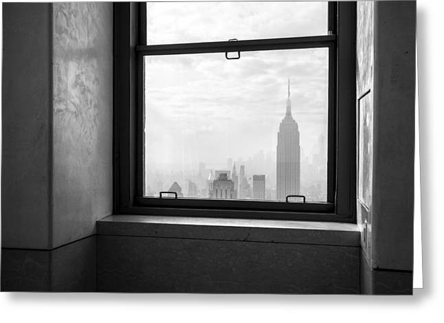 Nyc Room With A View Greeting Card by Nina Papiorek