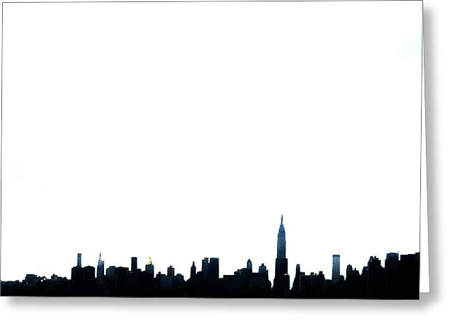 Nyc Silhouette Greeting Card