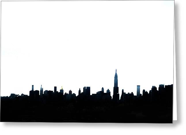 Nyc Silhouette Greeting Card by Natasha Marco