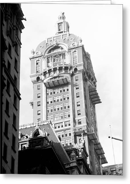 Nyc, Singer Building, 1967 Greeting Card by Science Source