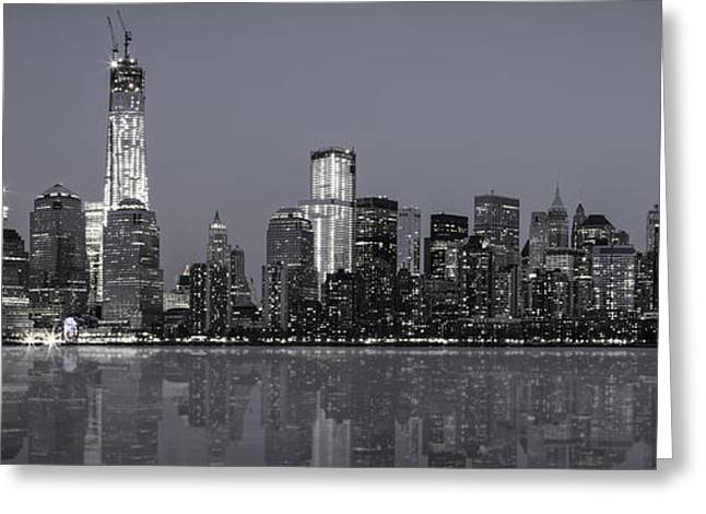 Nyc Skyline Greeting Card by Eduard Moldoveanu