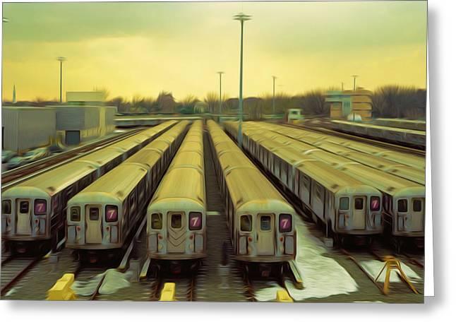 Nyc Subway Cars Greeting Card
