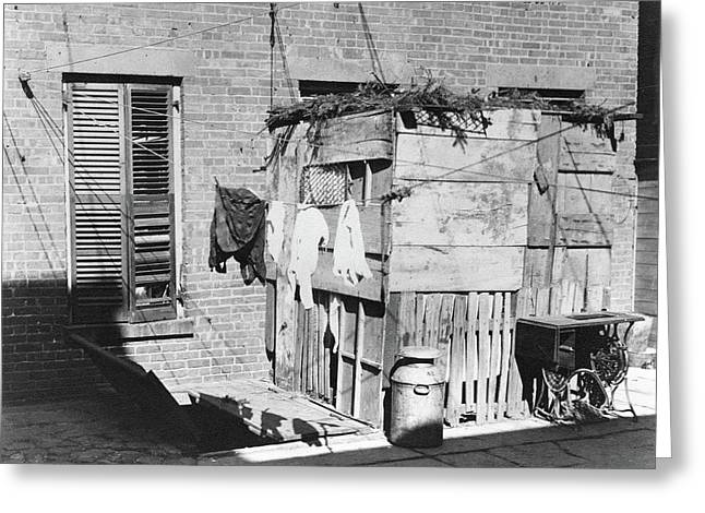 Nyc Tenement Life, 1897 Greeting Card by Granger
