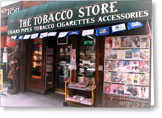 Nyc tobacco store with indian statue photograph by anne ferguson nyc tobacco store with indian statue greeting card by anne ferguson m4hsunfo