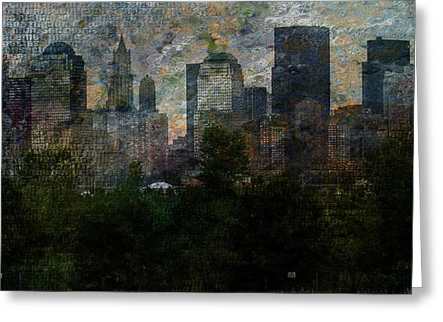 Nyc With Trees Greeting Card by Bruce Rolff