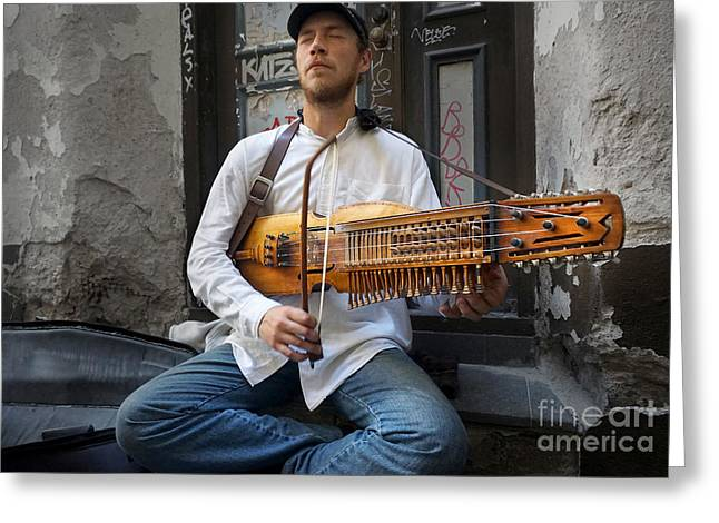 Nyckelharpa Player Of Estonia Greeting Card