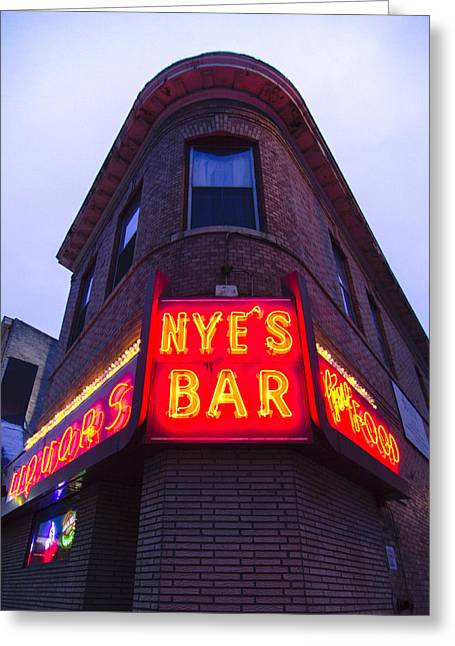 Nye's Bar By Day Greeting Card