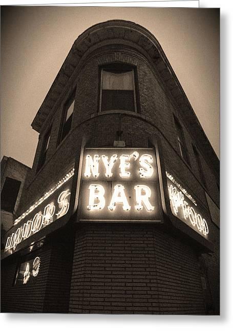 Nye's Bar Sepia V.2 Greeting Card