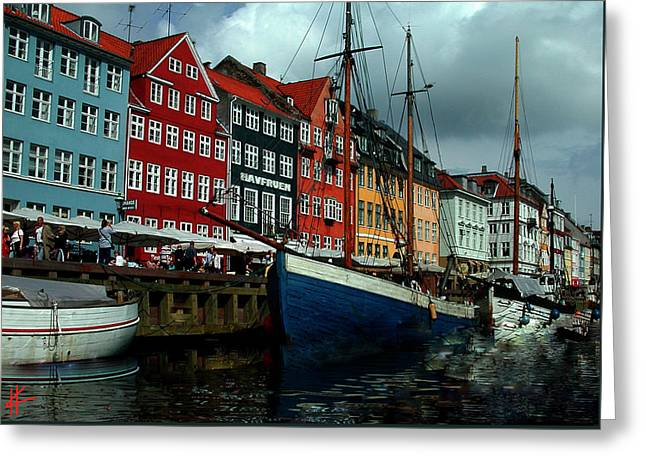 Greeting Card featuring the photograph Nyhavn Copenhagen by Colette V Hera  Guggenheim