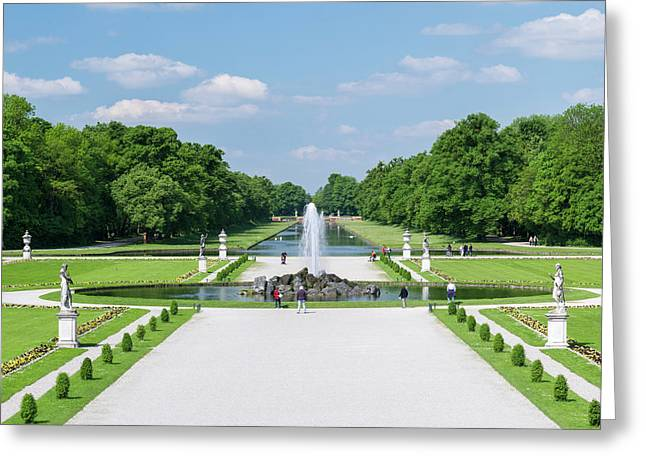 Nymphenburg Palace And Park In Munich Greeting Card
