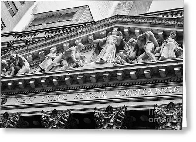 Nyse Greeting Card by Jerry Fornarotto