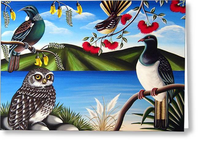 Nz Birds Greeting Card