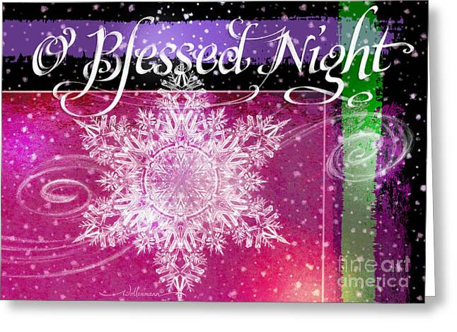 O Blessed Night Greeting Greeting Card
