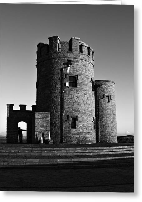 Briens Tower At The Cliffs Of Moher Greeting Card by Aidan Moran