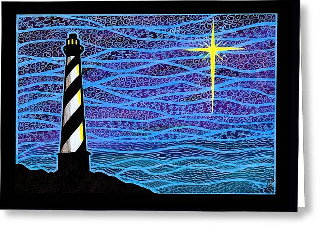 O Holy Night Hatteras Greeting Card by Jim Harris