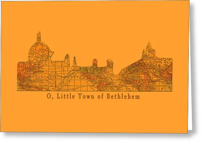 O Little Town Of Bethlehem Greeting Card by Sarah Vernon