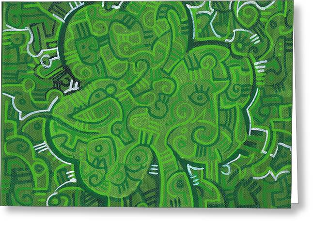 O' Lucky Greeting Card by Michael Ciccotello