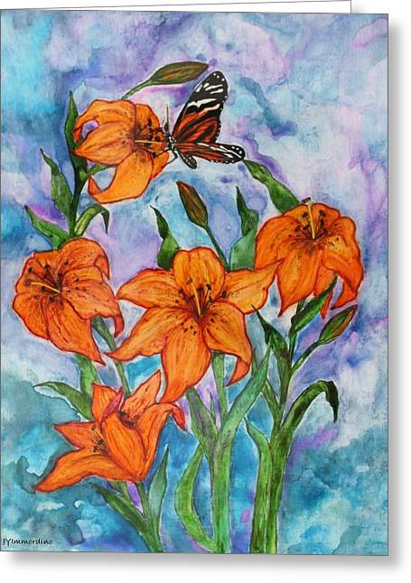 O Tiger Lily Greeting Card by Janet Immordino