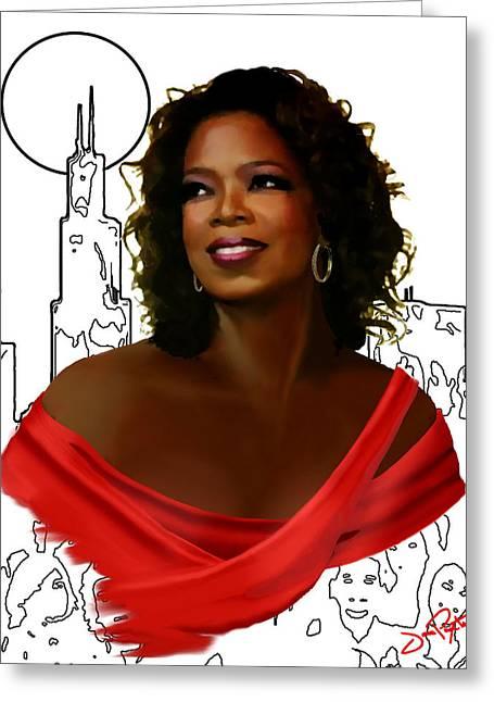 O Town Oprah Greeting Card