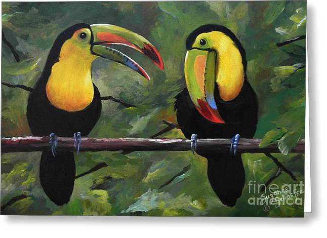 O Yeah Yeah Yeah -toucans Greeting Card by Suzanne Schaefer