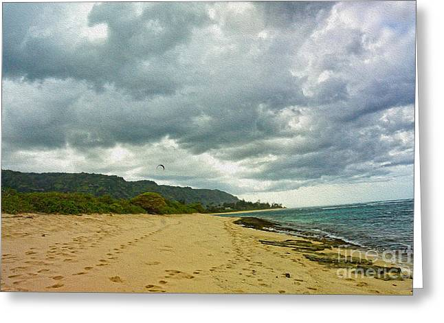 Oahu Beach View Greeting Card by Nur Roy