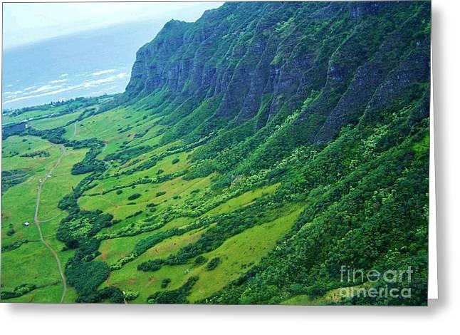 Oahu Jurassic Park Cliffs Greeting Card
