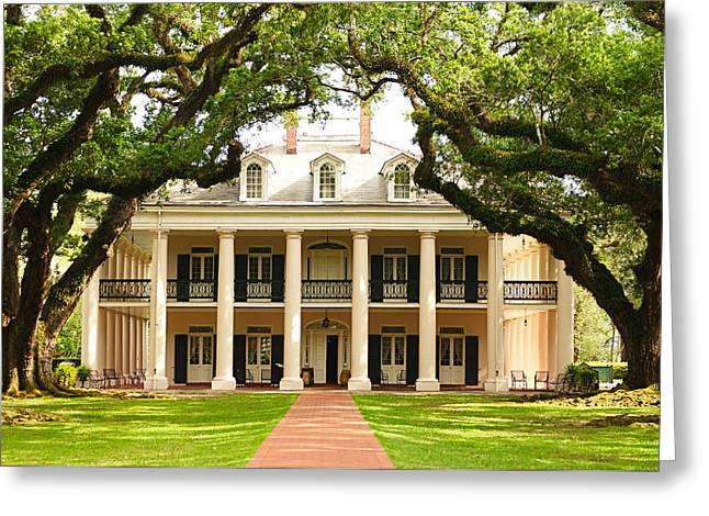 Oak Alley Mansion Greeting Card by Photography  By Sai