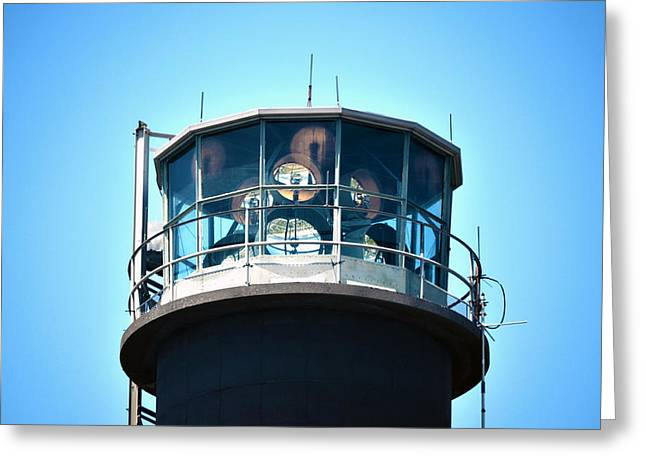 Oak Island Lighthouse Beacon Lights Greeting Card by Sandi OReilly