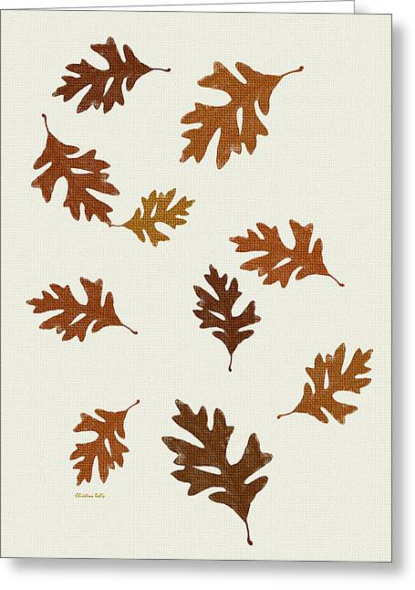 Oak Leaves Art Greeting Card