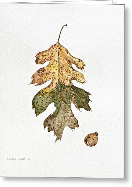 Greeting Card featuring the painting Oak Study by Michele Myers