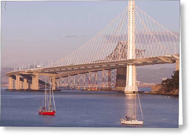 Oakland Bridge Greeting Card