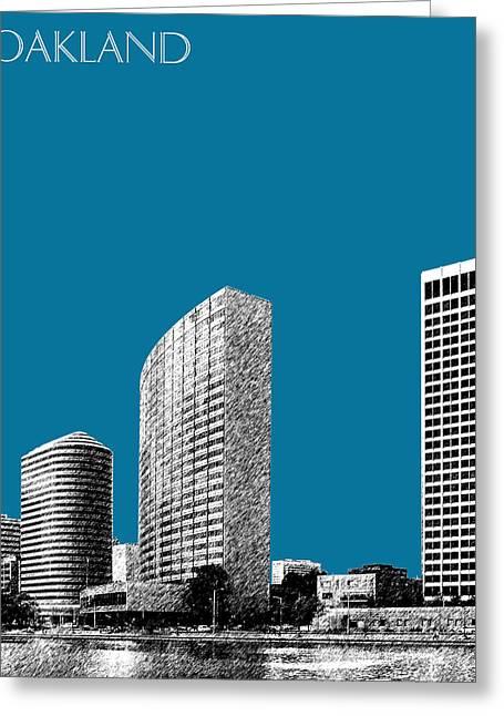 Oakland Skyline 2 - Steel Greeting Card