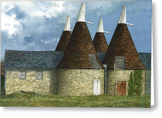 Oast Houses Greeting Card