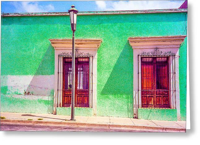 Oaxaca Windows Greeting Card