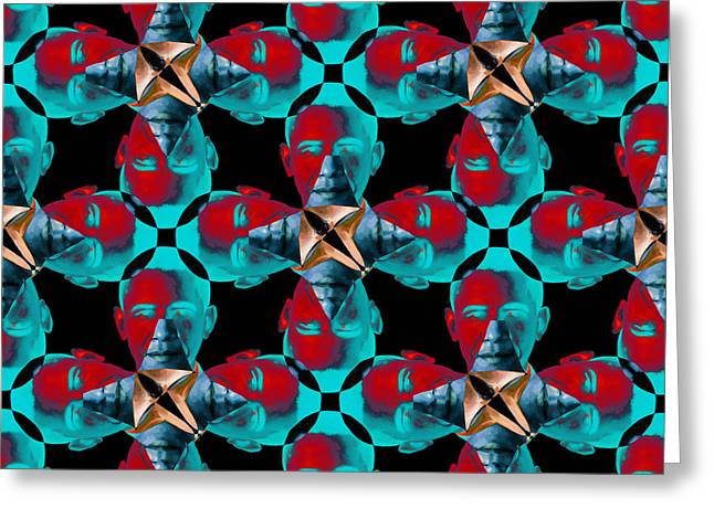Obama Abstract 20130202m180 Greeting Card by Wingsdomain Art and Photography
