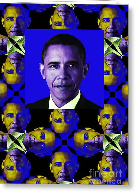 Obama Abstract Window 20130202verticalm118 Greeting Card