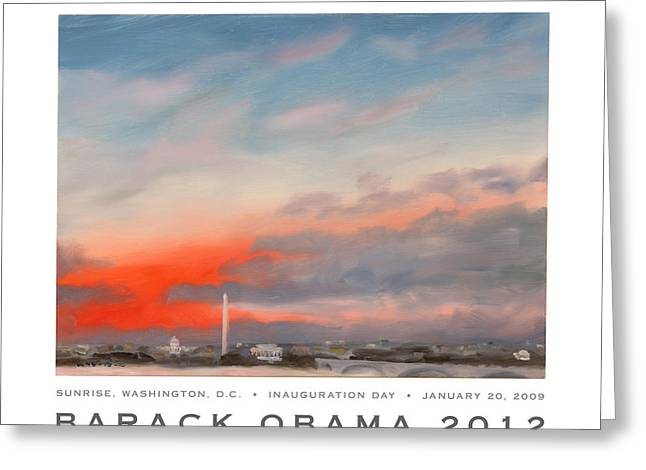 Obama Campaign Poster 2012 Greeting Card by William Van Doren
