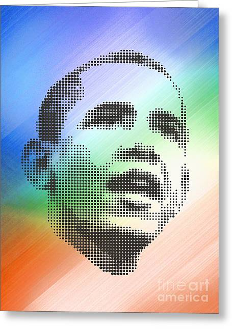 Obama On The Mirror Greeting Card by Rodolfo Vicente