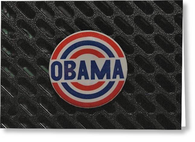 Obama Greeting Card by Rob Hans