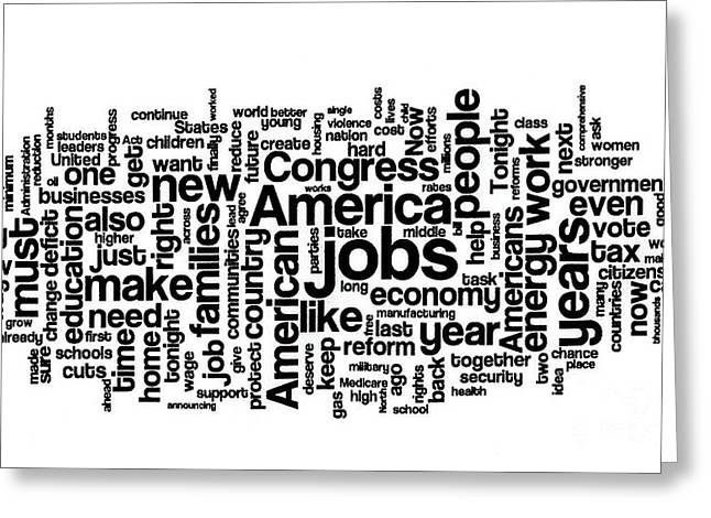 Obama State Of The Union Address - 2013 Greeting Card by David Bearden