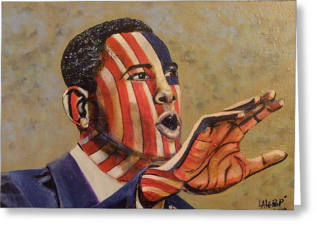 Obama...a State Of Mind Greeting Card by James  Lalepop Becker