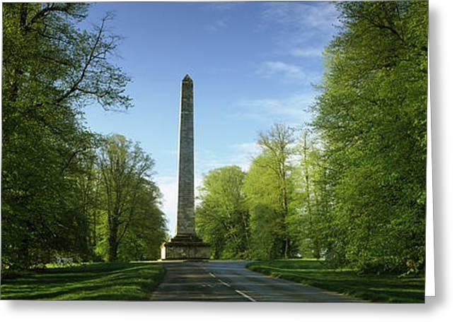 Obelisk At A Castle, Castle Howard Greeting Card