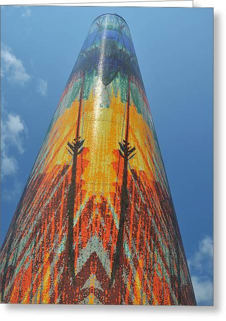 Obelisk Reaching To The Sky Greeting Card by Wendy Hansen-Penman