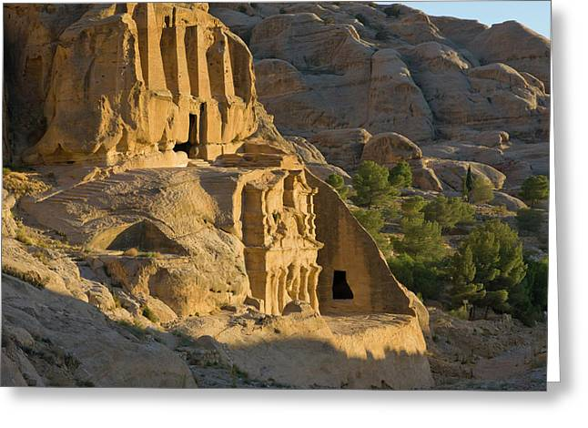 Obelisks Tomb, Petra, Jordan (unesco Greeting Card by Keren Su