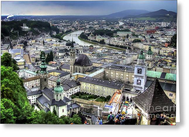 Greeting Card featuring the photograph Ober Innsbruck by Ken Johnson