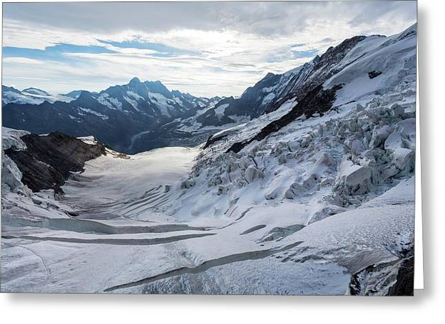 Obers Ischmeer Glacier Greeting Card by Dr Juerg Alean