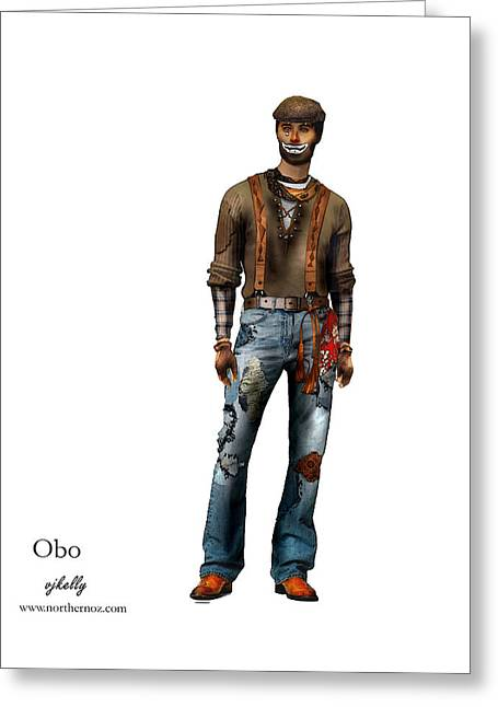 OBO Greeting Card by Vjkelly Artwork