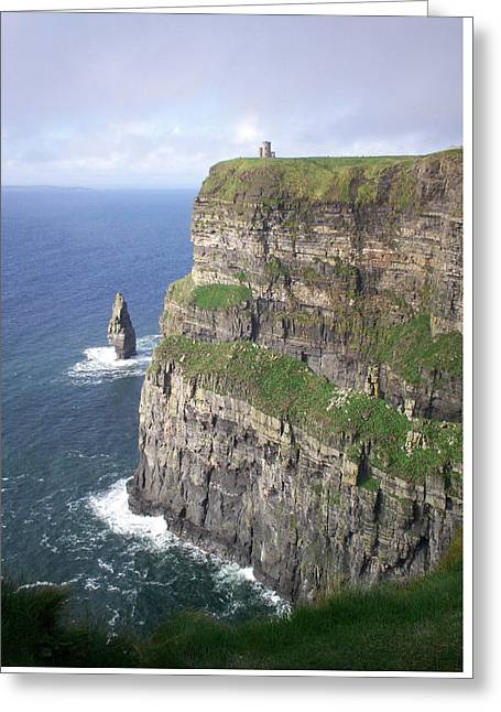 Cliffs Of Moher - O'brien's Tower Greeting Card