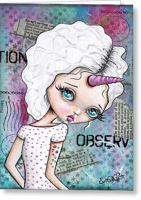 Observation Greeting Card by Lizzy Love of Oddball Art Co